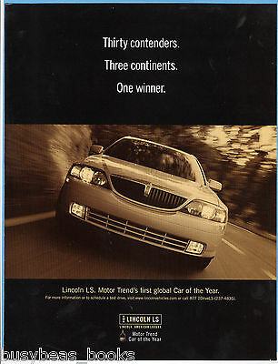 2000 LINCOLN LS advertisement, Lincoln LS front view photo