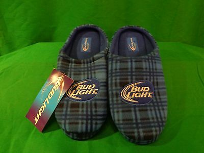 MENS SIZE SM 7-8 BUD LIGHT CLOG SLIPPERS HOUSE SHOES - BRAND NEW W/TAG!