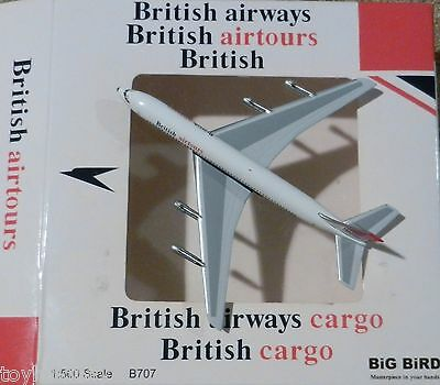 BiG BiRD British Airways Airtours Boeing 707 1:500 Scale REG#G-AXXY Diecast