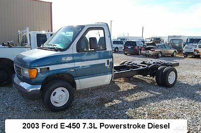 Ford : E-Series Van Custom Cutaway Van 2-Door 03 ford e 450 f 350 cab chassis flatbed 7.3 l powerstroke diesel engine dually