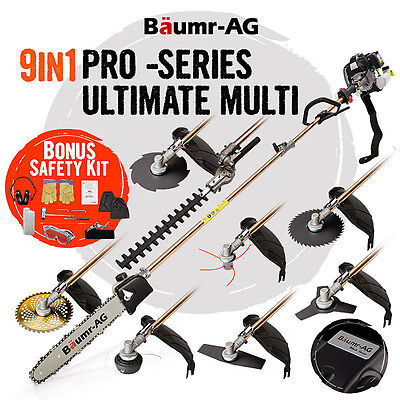 Baumr-AG Pole Chainsaw Whipper Snipper Hedge Trimmer Brush Cutter Tree Pruner
