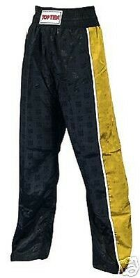 Satin Kickbox Hose Stripe, von Top Ten. In 4 Farben, ultraleicht. Kickboxen, MMA