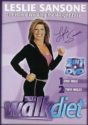Leslie Sansone - The Walk Diet (DVD, 2005) 2 in 1 DVD, One & Two Mile   NEW