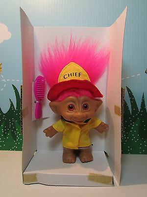 "FIRE CHIEF - 5"" Ace Treasure Troll Doll - NEW FROM FRESH CASE"