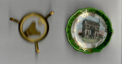 VINTAGE LIMOGES CERAMIC PLATE MINIATURE PARIS FRANCE SOUVENIR ARC DE TRIOMPHE