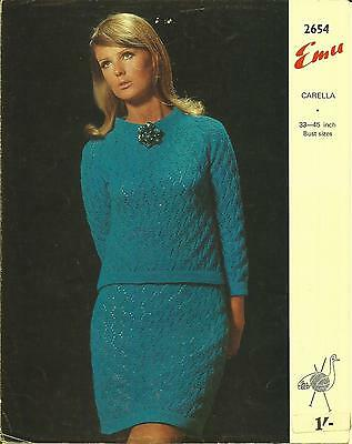 Vintage Knitting Pattern 1960's Lacy Jumper Suit