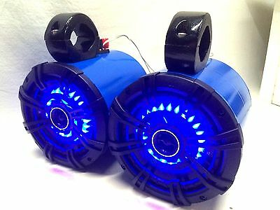 Kicker BLUE/LED Wakeboard Tower Boat Roll Cage Speakers UTV/ATV Can Am RZR NEW!