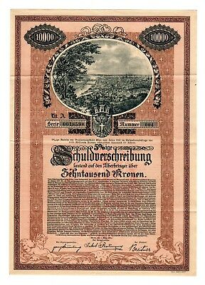 1921 Austria Governement Bond - Vienna