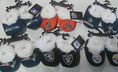 NFL Infant Baby Booties Slippers NEW - Great Shower Gift - Pick your team & size
