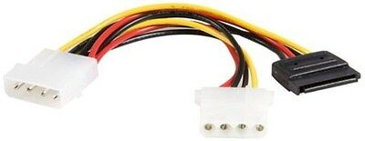 StarTech.com LP4 to LP4 SATA Power Y Cable Adaptor Power splitter 4 pin internal
