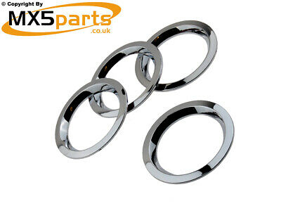 MX5 Chrome Eye Ball Air Vent Ring Surround Trims Mazda MX-5 Mk1 2 2.5 1989>2005