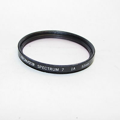 Used Promaster Spectrum 7 1A 52mm Lens Filter Made in Japan S940403
