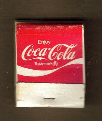 Unstruck Matchcover Enjoy Coca-Cola It's The Real Thing Slogan Soft Drinks Soda