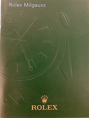 Rolex Collectable Millgauss 2010 Usa English Language Booklet. Near Mint / Mint