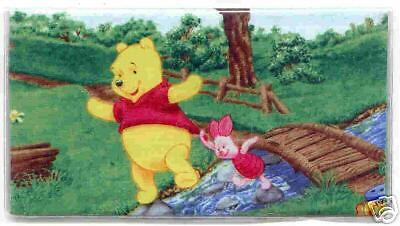 WINNIE THE POOH CHECKBOOK COVER IN THE PARK FABRIC PIGLET