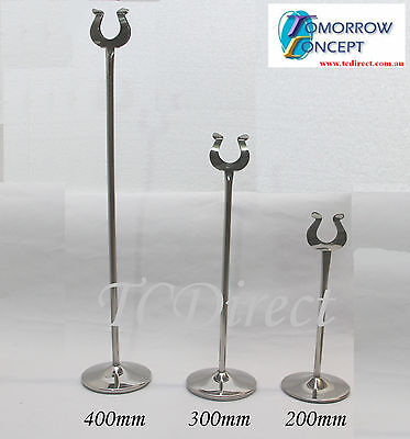 10x Menu Card Table Number Holder Stand for Wedding Restaurant & Cafe 300mm
