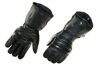 Raider X2 Gloves - Black Gauntlet Glove - Waterproof - Leather - Zippered Pocket