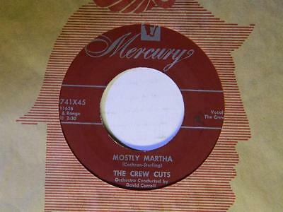 The Crew Cuts 45 Angels in the Sky / Mostly Martha ~Mercury VG+