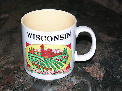 Wisconsin coffee tea mug cup, I've Been There mug by Papel