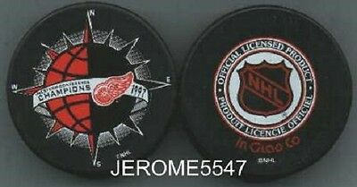 1997 DETROIT RED WINGS WEST CONFERENCE CHAMPS PUCK - #BBL