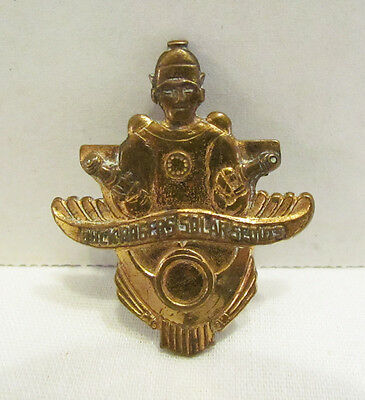 BUCK ROGERS SOLAR SCOUT SCOUTS METAL BADGE PIN 1936 CREAM OF WHEAT SPACE PREMIUM