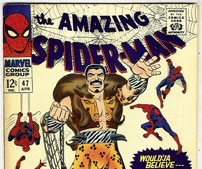 the Amazing Spider-Man #47 Kraven The Hunter  from Apr. 1967 in VF condition