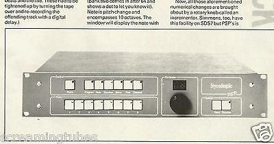 VINTAGE SYCOLOGIC PERCUSSION SIGNAL PROCESSOR REVIEW PRINT AD