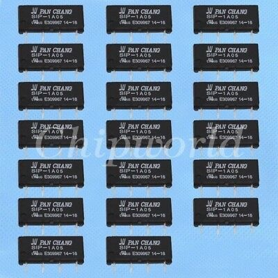 20pcs 5V Relay SIP-1A05 Reed Switch Relay 4PIN for PAN CHANG Relay