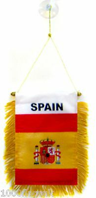 Spain Flag Hanging Car Pennant for Car Window or Rearview Mirror