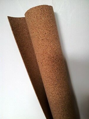 "Cork Sheet: 1.5x610x915mm 1/16x24x36"" model railway underlay scenery roll Tasma"