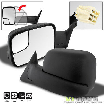 Left+Right 98-01 Dodge RAM 1500/98-02 2500 3500 FlipUp Power+Heated Tow Mirrors