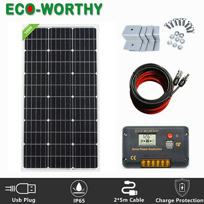 ECO 100Watt Solar Panel 100W Solar Power 12V Battery Charge for RV Boat Home