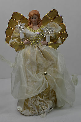Light Up Angel with Candles Tree Topper Christmas Figure new