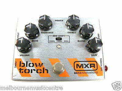 MXR BLOWTORCH BASS OVERDRIVE PEDAL  *Played By World Class Bassists* NEW!