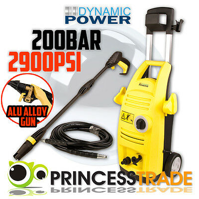 2900PSI High Pressure Washer - Electric Water Cleaner Gurney Turbo Head Hose