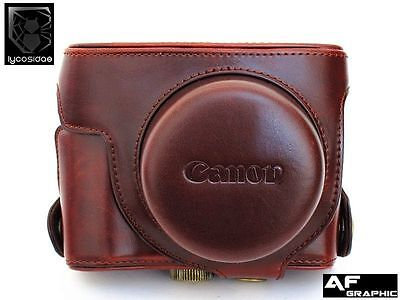 V319 NEW Leather Camera Case Bag for Canon Powershot G1 x Mark II M2 Camera