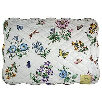 LENOX BUTTERFLY MEADOW QUILTED PLACEMAT, SET OF 2, NEW, FREE SHIPPING!