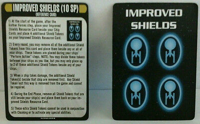 Star Trek Attack Wing Resistance is Futile Improved Shields + Reference Card