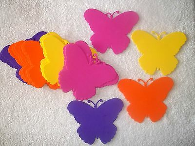 24 Pc Colorful Foam Butterfly Craft Shapes