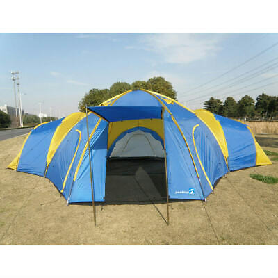 Peaktop 8-10 Persons 3+1 Rooms Waterproof Large Family Group Camping Tent