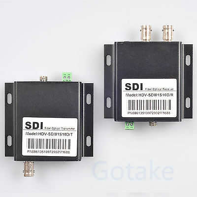 HD-SDI to FC Fiber Optic Converter 10KM Transmit Extender Video Loop RS485 Data