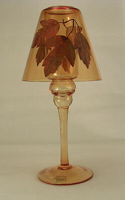 Yankee Candle Votive Holder Lamp Fall Leaf in Fall Amber Colors