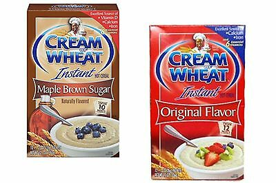 Cream of Wheat Instant Hot Cereal Packets - 4 Boxes