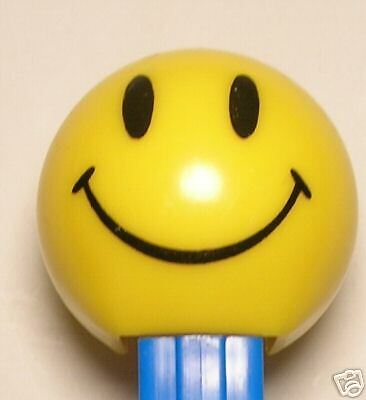 WALMART SMILEY FUNKY FACE PEZ BLUE STEM 4.9 LOOSE
