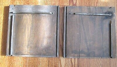 PAIR ANTIQUE OAK STACKING BARRISTER BOOKCASE SIDE PANELS  Lot 1