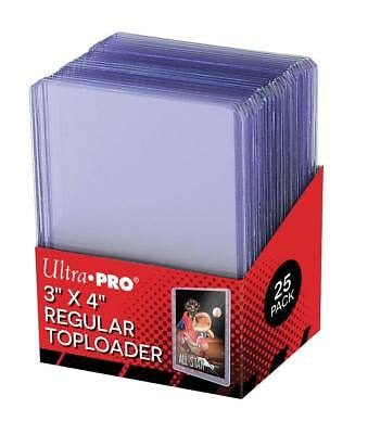 "2,000 Ultra Pro Regular Series 3""x4"" Toploaders Case 2000 80 Sealed 25ct Packs"