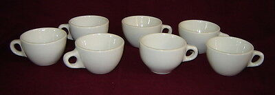 7 Vintage Allegheny China Coffee Cups Vitrified Warren Pa