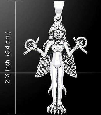 Sumerian Goddess Lilith Lillith Jewelry Sterling Silver Pagan Pendant #TPD1118