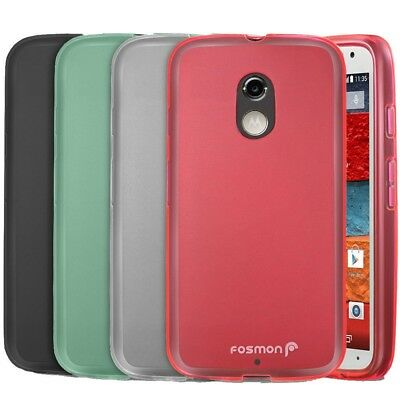 Frosted Matte Soft TPU Gel Flexible Case Cover For Motorola Moto X 2nd Gen 2014