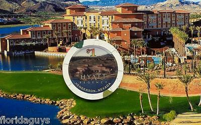HYATT REGENCY HOTEL CASINO - $1 GAMING CHIP - HENDERSON NEVADA